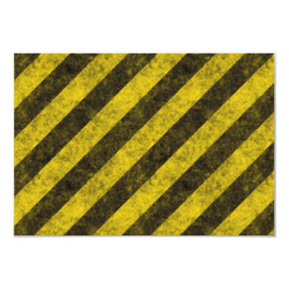 Diagonal Construction Hazard Stripes Card
