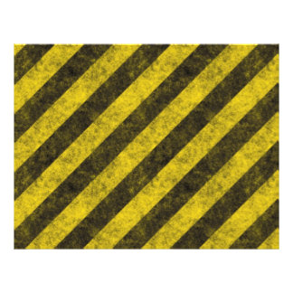 Diagonal Construction Hazard Stripes Flyer