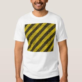 Diagonal Construction Hazard Stripes Tee Shirt