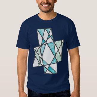 Diagonal Crosses Motif T-shirt