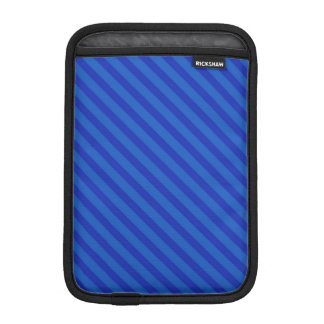 Diagonal dark cobalt blue Stripes Sleeve For iPad Mini