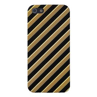 Diagonal del oro iPhone 5 carcasa