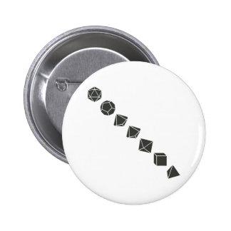 Diagonal Dice (Dark) Pin