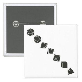 Diagonal Dice (Dark) Buttons