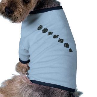 Diagonal Dice Dark Pet Tee Shirt