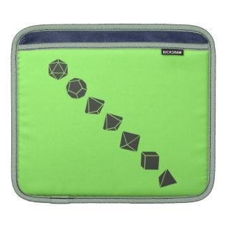 Diagonal Dice (Dark) iPad Sleeve