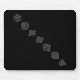 Diagonal Dice (Dark) Mouse Pad