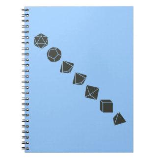 Diagonal Dice (Dark) Notebook
