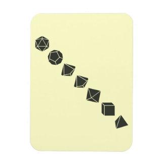 Diagonal Dice (Dark) Rectangle Magnet