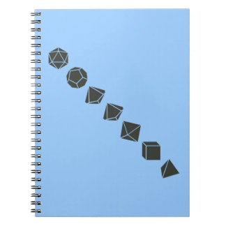 Diagonal Dice (Dark) Spiral Notebook