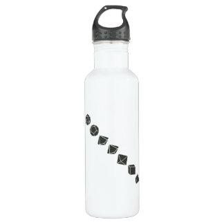 Diagonal Dice (Dark) Stainless Steel Water Bottle