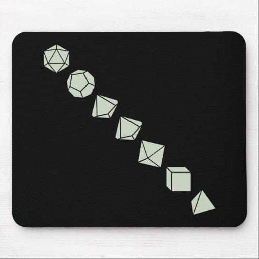 Diagonal Dice (Light) Mousepads