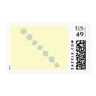 Diagonal Dice (Light) Postage