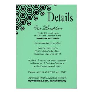 Diagonal Geometric Reception Details | mint Card
