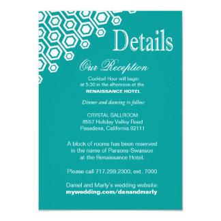 Diagonal Geometric Reception Details | teal Card