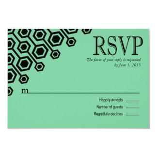 Diagonal Geometric RSVP Response | mint Card