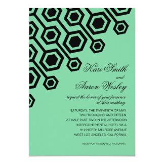 Diagonal Geometric Wedding | mint Card