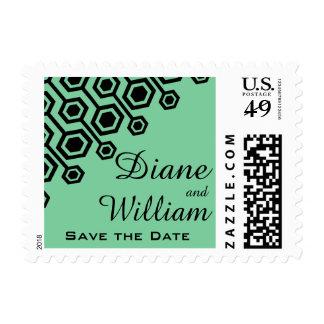 Diagonal Geometric Wedding | mint Stamp