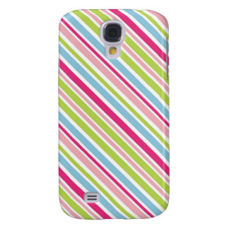 Diagonal Girly Stripes Galaxy S4 Cover