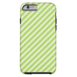 Diagonal Green Scrapbook Stripes Pattern Tough iPhone 6 Case