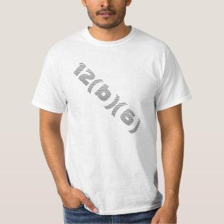 Diagonal Grey Text Shirt