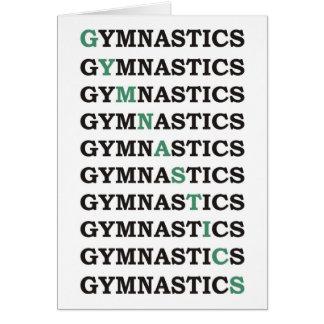 Diagonal Gymnastics Card