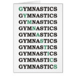 Diagonal Gymnastics Greeting Card
