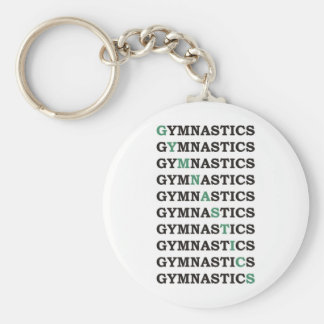 Diagonal Gymnastics Keychain