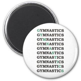 Diagonal Gymnastics Magnet