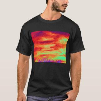 Diagonal  Layered Cirrus Clouds and Electric Treet T-Shirt