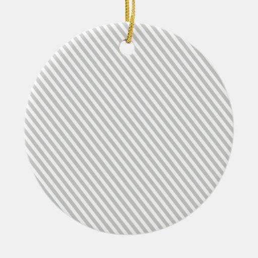 Diagonal Line Christmas Ornament