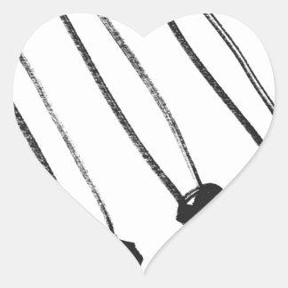 diagonal match stick's heart sticker