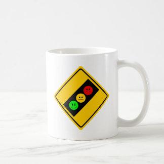 Diagonal Moody Stoplight Ahead Coffee Mug