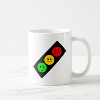 Diagonal Moody Stoplight Classic White Coffee Mug
