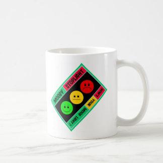 Diagonal Moody Stoplight Logo Classic White Coffee Mug
