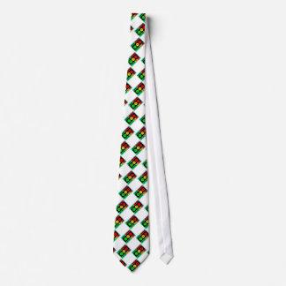 Diagonal Moody Stoplight Logo Neck Tie