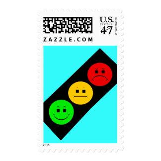 Diagonal Moody Stoplight Postage