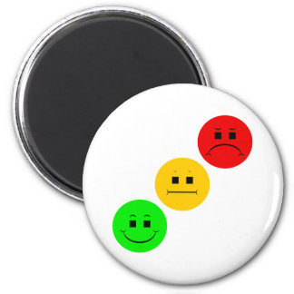 Diagonal Moody Stoplight Sans Stripe 2 Inch Round Magnet