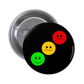 Diagonal Moody Stoplight Sans Stripe Pinback Button