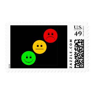 Diagonal Moody Stoplight Sans Stripe Postage Stamp