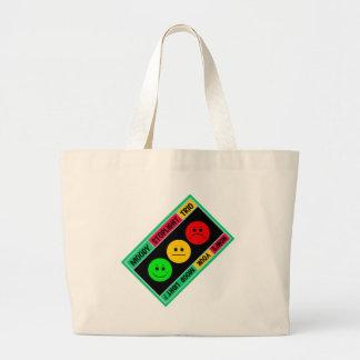 Diagonal Moody Stoplight Trio Logo Large Tote Bag