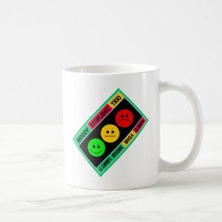 Diagonal Moody Stoplight Trio Logo Classic White Coffee Mug