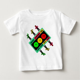 Diagonal Moody Stoplight Trio Logo with Characters Baby T-Shirt