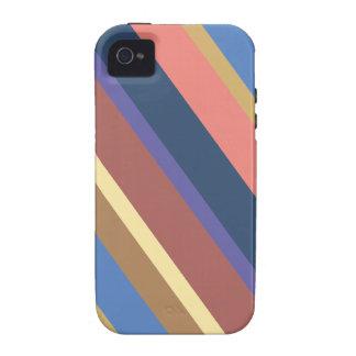 Diagonal Multicolor Stripes Pattern iPhone 4 Cases
