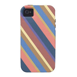 Diagonal Multicolor Stripes Pattern iPhone 4 Case