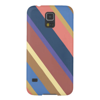 Diagonal Multicolor Stripes Pattern Case For Galaxy S5