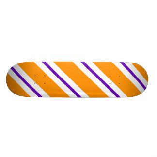 Diagonal Orange White And Purple Skateboard