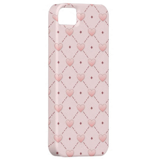 diagonal pattern pink candy hearts iPhone 5 case