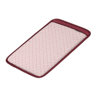 diagonal pattern pink candy hearts MacBook sleeve