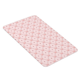 diagonal pattern pink candy hearts magnet